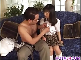 Sweet babe anna kuramoto moans as she gets her pussy banged