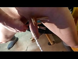 fuck turn machine in cock with big notched rod