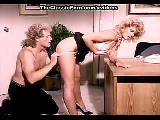 KC Williams, Randy West in classic porn video featuring hot blonde chick