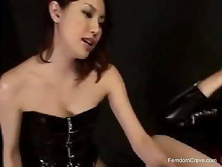Asian pegging femdom