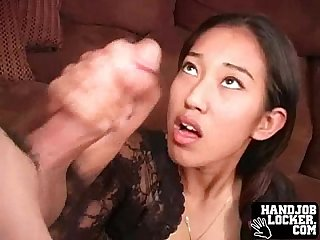 Teen double handjob