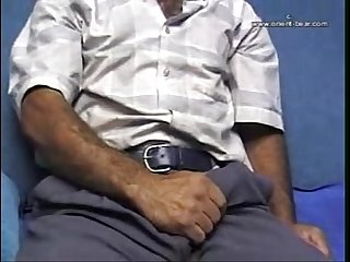 Manly straight man with perfect hairy chest masturbation