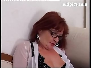 Upper class milf orders to a young man to fuck