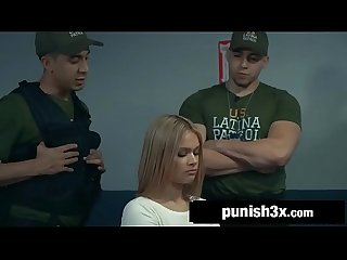 Gorgeous latina caught and fucked by border patrol Kendall kross