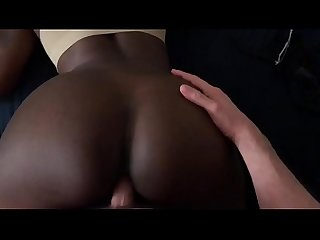 Black Teen Gets Fucked From Behind And Gets Creampied
