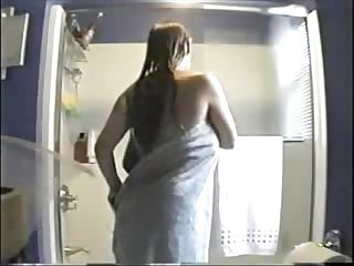 Watch my sister nude in bath room. Hidden cam