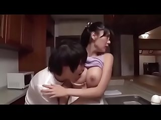 Miho ichiki pretty big tits stepmom meets son s sexual needs in the kitchen