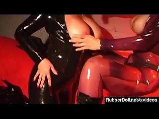 Rubberdoll strapon bangs jewell marceau in latex catsuits excl