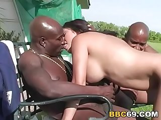 Busty Tori Has Interracial Threesome