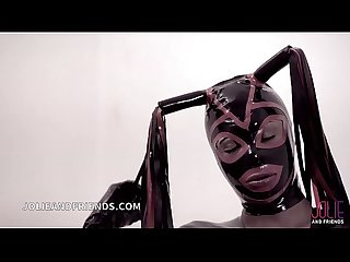 Trans mistress in latex exclusive scene with dominated slave fucked hard