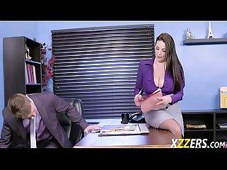Angela white in horny secretary fucking