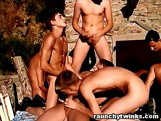 Hot men naked and fucked each other outdoors