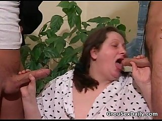 Three mature bitches fuck some nasty