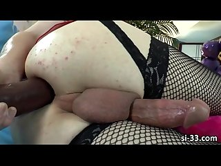 Slim and sporty shemale jacqueline woods masturbates