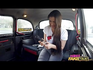 Female Fake Taxi Backseat lesbian orgasm lessons
