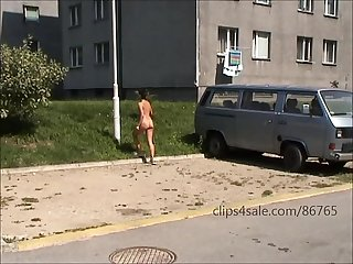 Sabina nude in public