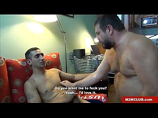 Hung latino dude fucking an english bear