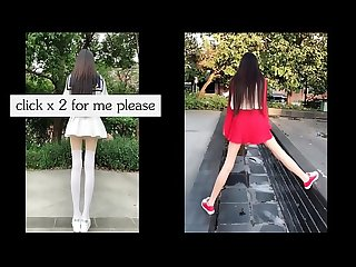 tiktok asian cute girl really long legs just 18yo cutie babe fancy back