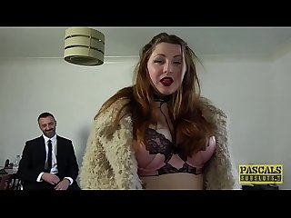 Submissive BBW Estella Bathory punished by Pascals cock