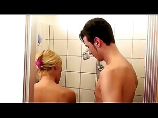 German step mom help son in shower and seduce to fuck