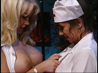 Nurse sharing a dildo