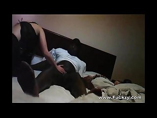 Black cock bangs white slut in hookup fuck