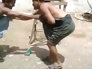 Fight in lungi and... naked lol