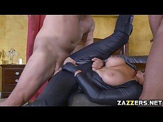 Romi derails into double penetration