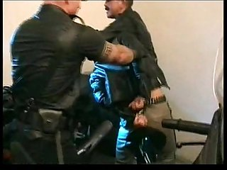 Leather law various scenes gay gloves and leather