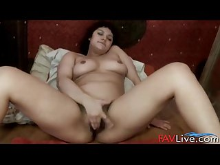 Hot colombian girl Zola squirting her hairy pussy
