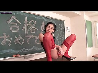 Asian teacher toying and gets asshole fucked