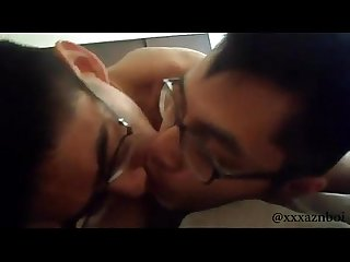 Sweet asian couple fucking