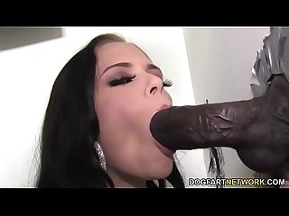 Petite Angelina Black Meets Huge Black Cock - Gloryhole
