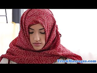 Hijabi babe massaged on forbidden spots