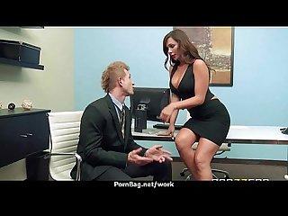 Sexy wild milf loves rough sex at work 19