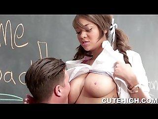 Big Tits Schoolgirl Banged