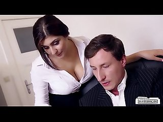 Bums buero boss fucks busty german secretary and cums on her big tits