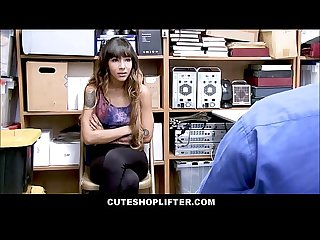 Hot Skinny Latina Teen With Tattoos Kitty Carrera Caught Shoplifting Merchandise Sex With Loss..