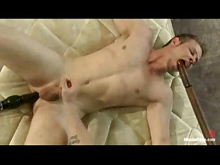 Straight guy ass duldo fucked gets blown and edged by four dudes for the very fi