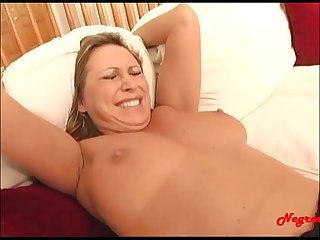 Negroed com blond milf get her first monster cock up the asshole