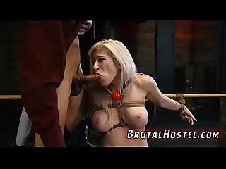 Bondage birthday present xxx Big-breasted platinum-blonde sweetie