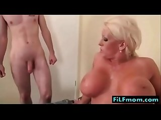 Busty mom wants sons small dick - More FREE Family Sex Videos at FiLFmom.com