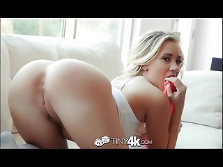 Tiny4k Arched back blonde beauty Bailey Brooke big dick fuck