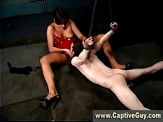 Cock tied femdom guy