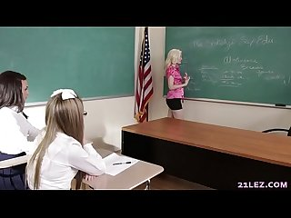 Schoolgirls play a game with their lesbian teacher charlotte stokely scarlett sage and alex more