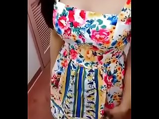 Sexy indian girl blowjob in dressing room
