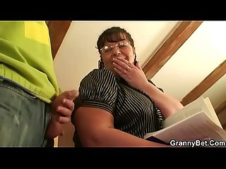 Chubby mature woman jumps on cock after blowjob