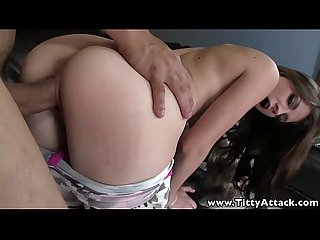Tittyattack busty babe titfucks and rides big cock