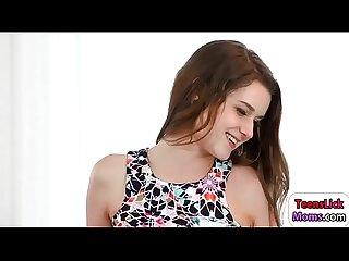 Pretty teen alex mae rubbing pussy with stepmom lexy