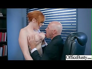 Slut Horny Girl (Lauren Phillips) With Big Melon Tits Enjoy Sex In Office video-20